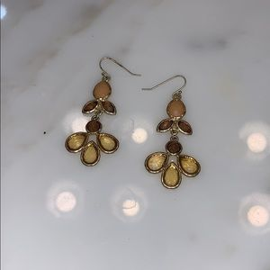 Jewelry - Dangling costume jeweled earrings